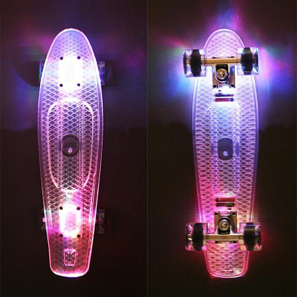 Pennyboard NILS s LED transparent